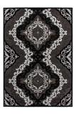 Design Velours Teppich Ankara mit Orient Muster Schwarz | Glitzer & 3D Effekt 001