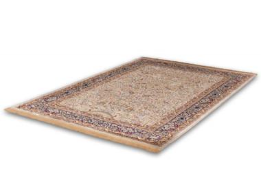 Klassischer Flachflor Teppich Dukhan Elfenbein mit Orientalischen Muster – Bild 5