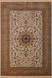 Klassischer Flachflor Teppich Aspire Elfenbein mit Orientalischen Muster 001
