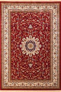 Klassischer Flachflor Teppich Aspire Rot mit Orientalischen Muster – Bild 1