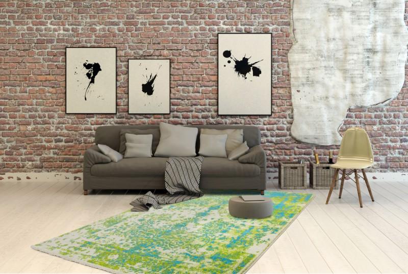 Sanviro.com | Esszimmerschrank Grün Teppich Wohnzimmer Grun