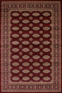 Orientalischer Design Teppich Salta Rot – Bild 1