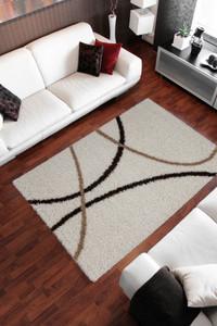 Hochflor Shaggy Teppich Twister 320 Beige – Bild 2