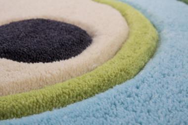 Designer Kinder Teppich Eule 318 Blau Inspire Kids mit 3D Effekt – Bild 4