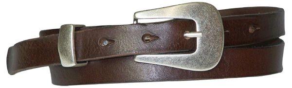 FRONHOFER schmaler Gürtel 2cm schmal,  Designer Schließe, echtes Naturleder, schmaler Ledergürtel 1409, Damengürtel, auch Gürtel Übergrößen erhältlich