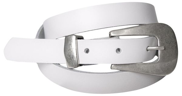MARINA: Skinney Belt with silver Buckle & Loop