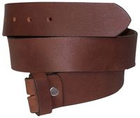 FRONHOFER Interchangeable belt | Belt without a buckle | Belt + screw to shorten it yourself | Real buffalo leather | Plus sizes