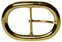 FRONHOFER goldene ovale Gürtelschnalle für 4 cm Riemen; Gürtelschließe in Gold; Wechselgürtel