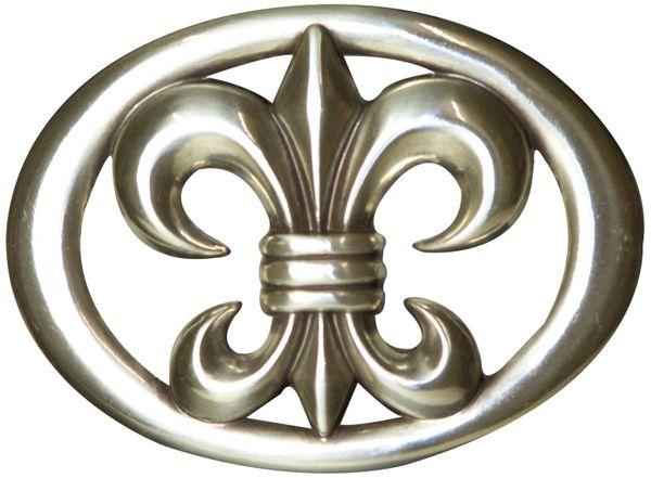 FRONHOFER, Gürtelschnalle, Damen, für 4cm Gürtelriemen, 8cm * 6cm, 17709
