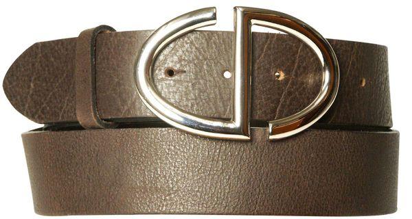 CATWALK 2: Damengürtel 4 cm, exclusive Gürtelschnalle, echt Ledergürtel
