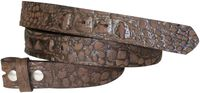 FRONHOFER Full-grain cowhide leather belt, croc-embossed interchangeable belt strap, no buckle, 1.2 /3 cm