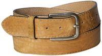 PAUL: bester Herrengürtel 4 cm schlichte Gürtelschnalle altsilber, echtes Naturleder abgenäht