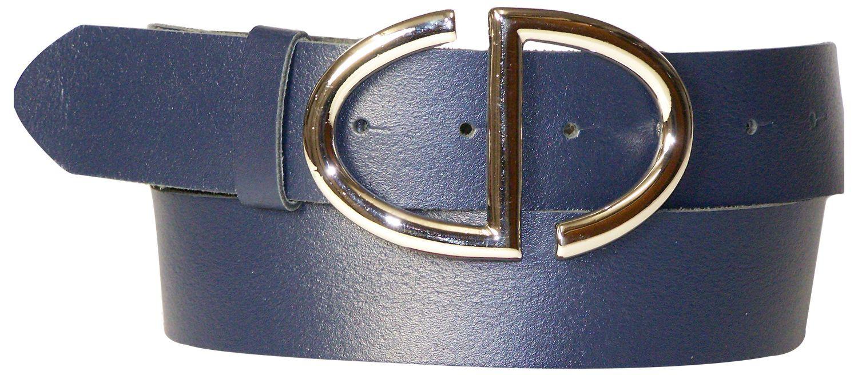 27dee2253503c8 SERENA: eleganter Damengürtel 4 cm mit silberner Gürtelschnalle echt  Ledergürtel