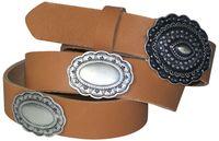 GO WEST: Boho-style women's belt with large decorative elements, Coachella style