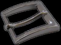 FRONHOFER klassische 4 cm Gürtelschnalle Silber, Dornschnalle, Gürtelschließe silber-farbe