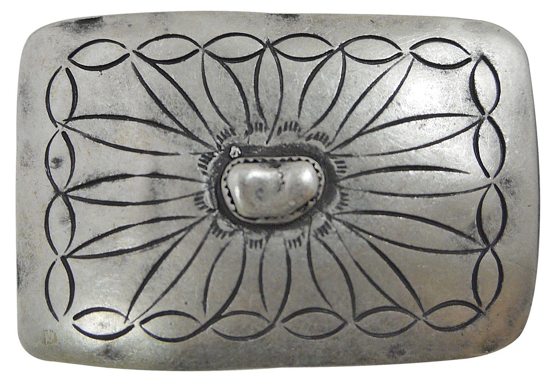 Western Buckle altsilber 4 cm FRONHOFER Indianer Gürtelschnalle Damen Herren