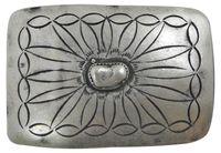 MEXIKO Buckle, Western, Gürtelschnalle unisex, altsilber, für 4 cm Gürtelriemen