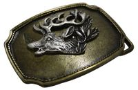 STAG HEAD Brass belt buckle, traditional buckle for 1.5 /4cm belts