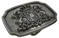 BAVARIA III Oktoberfest belt buckle, antique silver, Bavaria coat of arms buckle, for 1.5 /4cm belts