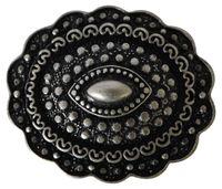 FRONHOFER Gürtelschnalle, altsilber für 3 cm Gürtelriemen, Buckle, Hippiestyle