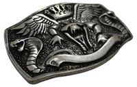 COBRA Snake belt buckle, silver, Western buckle, cobra buckle 1.5 /4cm