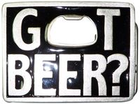 GOT BEER belt buckle,  got beer  buckle with bottle opener, unisex, for 1.5 /4 cm belts