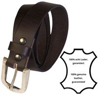 RONNY Men's belt with a solid metal side-bar buckle in antique silver, buffalo leather belt