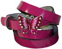 BUTTERFLY Damengürtel Sommergürtel Lackleder Schmuckschnalle Schmetterling