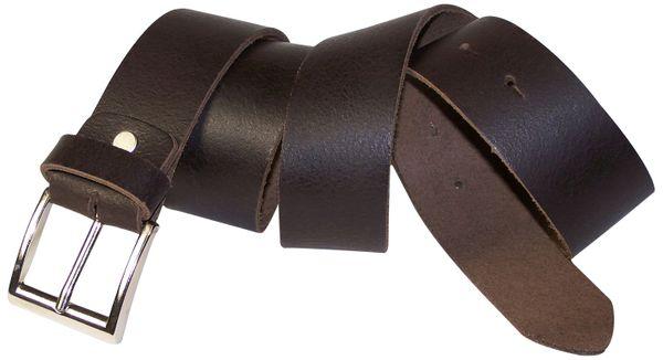 "with screw for shortening 1.5/""//4cm FRONHOFER Men/'s leather belt silver buckle"