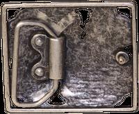 FRONHOFER Antique silver belt buckle with large rhinestones, women, for 1.5 /4cm belts 18196