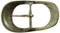 FRONHOFER Classic silver belt buckle, oval, center bar buckle, pin buckle for 1.5 /4 cm belts 18198