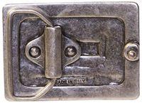 FRONHOFER verzierte Gürtelschnalle in altsilber für Damen, 4 cm