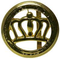 FRONHOFER round crown belt buckle in gold for women 1.4 /3.5cm 18241