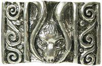 FRONHOFER Fantasy antique silver belt buckle for women, for 1.5 /4cm belts