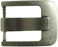 FRONHOFER Classic antique silver belt buckle, side bar buckle, pin buckle, unisex 1.8 /4.5cm