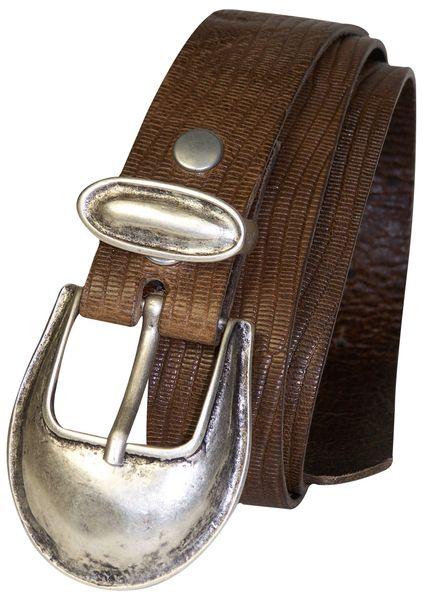 FRONHOFER Damengürtel echt Ledergürtel 3 5 cm Reptilprint 2 teilige Schließe
