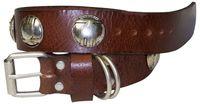 COCO Hundhalsband Naturleder Schmuckhalsband 3 cm Kugelnieten indianer