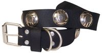 COCO Dog collar in natural leather, studded Indian-inspired dog collar, round studs 1.2 /3cm