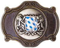 BAVARIA IX Oktoberfest buckle, Bavarian coat of arms, blue and white, 1.5 /4cm