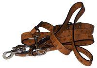 MONTE CARLO SET:Hundehalsband und Leine Set, Hundeset Echtleder Straussenlederoptik