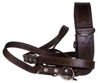 MONTE CARLO SET: Genuine leather dog collar and leash set, ostrich leather finish