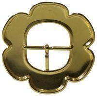 MAJA Belt buckle, gold flower, center bar buckle for women, 1.8 /4.5cm