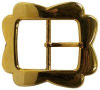 MAGDA Gold belt buckle, flower shape, center bar buckle for women, 1.5 /4cm 18300