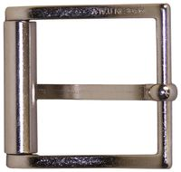 FRONHOFER Classic silver belt buckle, side bar buckle, pin buckle, unisex 1.5 /4cm 18302
