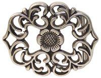 KYLIE Gürtelschnalle mit floralem Muster für Damen 3,5 cm