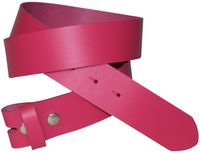 FRONHOFER Interchangeable belt, belt without buckle 1.37 /3,5 cm, snap-on belt, 100% cowhide, 6.5 oz.