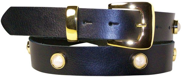 31bdd133a ECLIPSE Women's genuine leather belt with a gold buckle 1.2