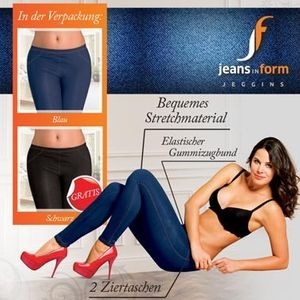 Jeans in Form Jeggins Stretchhose