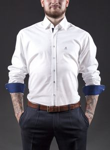 "DECIHELL Herrenhemd ""White / Blue"", Slim Fit – Bild 1"