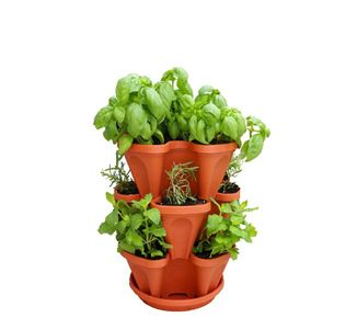Stackable Planter - Stapelbarer Pflanztopf in Terracotta-Optik 3-tlg.